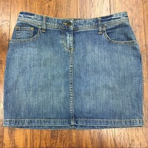 New York & Company Denim Midi Skirt Sz 6